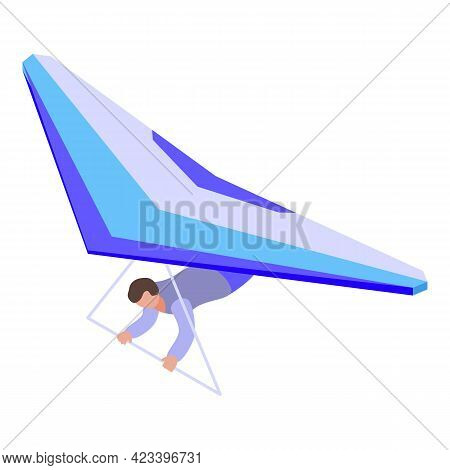 Professional Paraglider Icon. Isometric Of Professional Paraglider Vector Icon For Web Design Isolat
