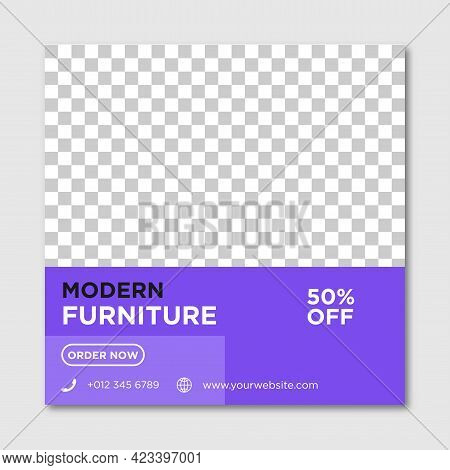 Modern Furniture Sale Banner For Flyer And Social Media Post Template