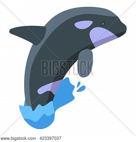 Killer Whale Show Icon. Isometric Of Killer Whale Show Vector Icon For Web Design Isolated On White