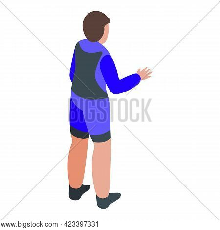 Man In Swimming Suit Icon. Isometric Of Man In Swimming Suit Vector Icon For Web Design Isolated On