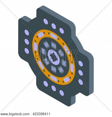 Car Kit Clutch Icon. Isometric Of Car Kit Clutch Vector Icon For Web Design Isolated On White Backgr