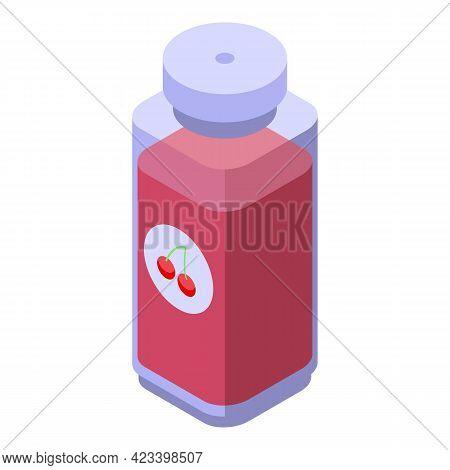 Juice Bottle Icon. Isometric Of Juice Bottle Vector Icon For Web Design Isolated On White Background