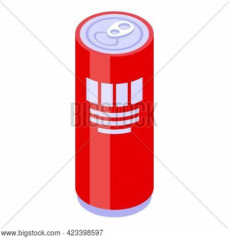 Soda Can Icon. Isometric Of Soda Can Vector Icon For Web Design Isolated On White Background