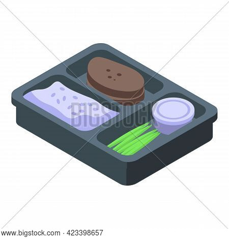 School Lunch Icon. Isometric Of School Lunch Vector Icon For Web Design Isolated On White Background