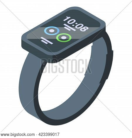 Smart Watch Icon. Isometric Of Smart Watch Vector Icon For Web Design Isolated On White Background