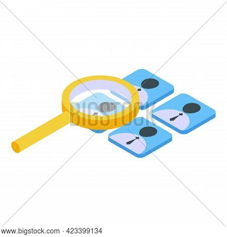 Social Network Icon. Isometric Of Social Network Vector Icon For Web Design Isolated On White Backgr