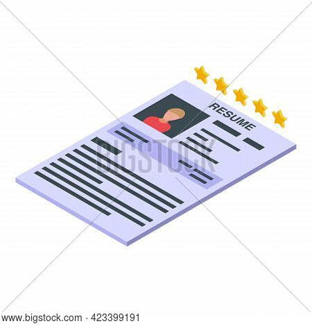 Human Resources Profile Icon. Isometric Of Human Resources Profile Vector Icon For Web Design Isolat
