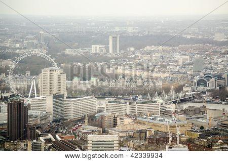Aerial view of Lambeth, London