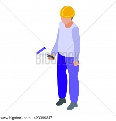 Human Resources Painter Icon. Isometric Of Human Resources Painter Vector Icon For Web Design Isolat