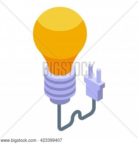 Light Energy Payment Cancellation Icon. Isometric Of Light Energy Payment Cancellation Vector Icon F