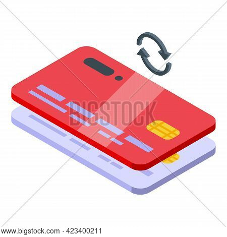 Credit Card Consumer Rights Icon. Isometric Of Credit Card Consumer Rights Vector Icon For Web Desig