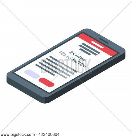 Education Workflow Smartphone Icon. Isometric Of Education Workflow Smartphone Vector Icon For Web D