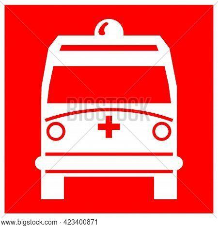 Ambulance Pick Up Point Symbol Sign,vector Illustration, Isolate On White Background, Label ,icon. E