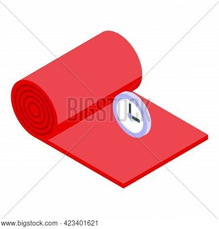 Fitness Yoga Mat Icon. Isometric Of Fitness Yoga Mat Vector Icon For Web Design Isolated On White Ba
