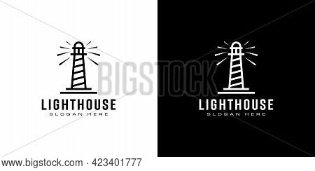 Lighthouse Icon. Simple Illustration Of Lighthouse Vector Icon For Web