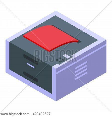 Device Digital Printing Icon. Isometric Of Device Digital Printing Vector Icon For Web Design Isolat