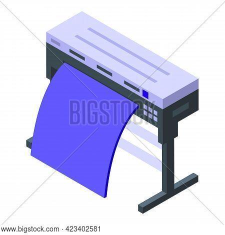 Plotter Digital Printing Icon. Isometric Of Plotter Digital Printing Vector Icon For Web Design Isol
