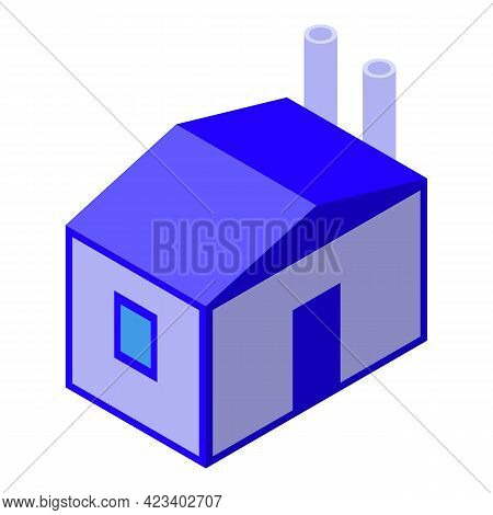 Water Purification House Icon. Isometric Of Water Purification House Vector Icon For Web Design Isol
