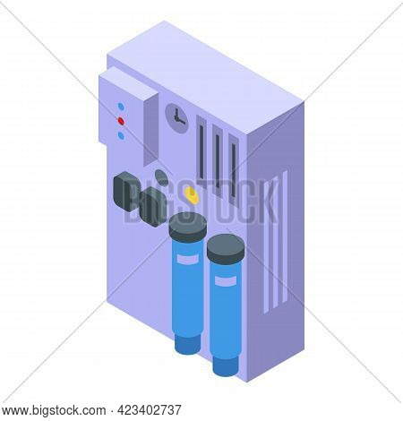 Water Purification Equipment Icon. Isometric Of Water Purification Equipment Vector Icon For Web Des