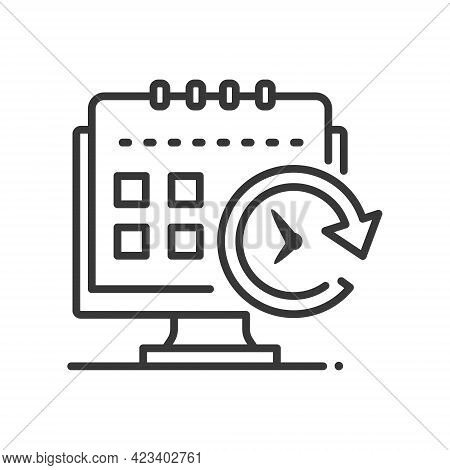 Planning - Vector Line Design Single Isolated Icon