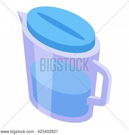 Water Purification Jug Icon. Isometric Of Water Purification Jug Vector Icon For Web Design Isolated