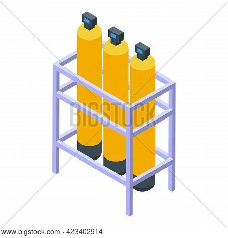Water Purification Home Tanks Icon. Isometric Of Water Purification Home Tanks Vector Icon For Web D