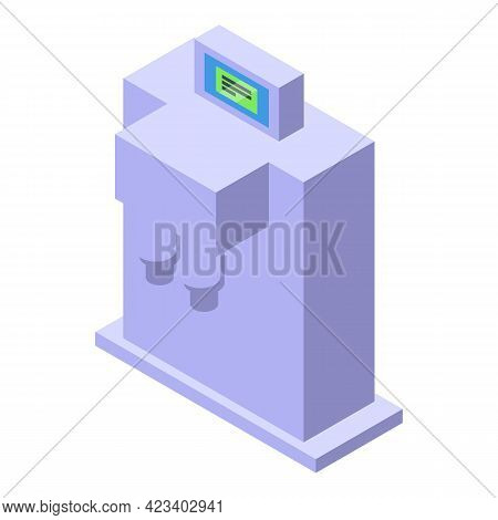 Water Purification Separator Icon. Isometric Of Water Purification Separator Vector Icon For Web Des