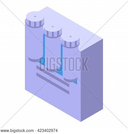 Water Purification Storage Icon. Isometric Of Water Purification Storage Vector Icon For Web Design