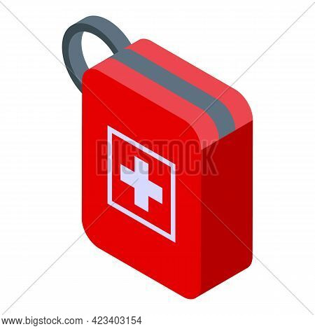 Hike First Aid Kit Icon. Isometric Of Hike First Aid Kit Vector Icon For Web Design Isolated On Whit