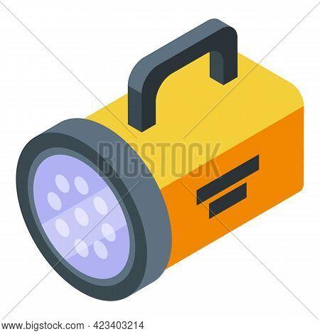 Hike Flashlight Icon. Isometric Of Hike Flashlight Vector Icon For Web Design Isolated On White Back