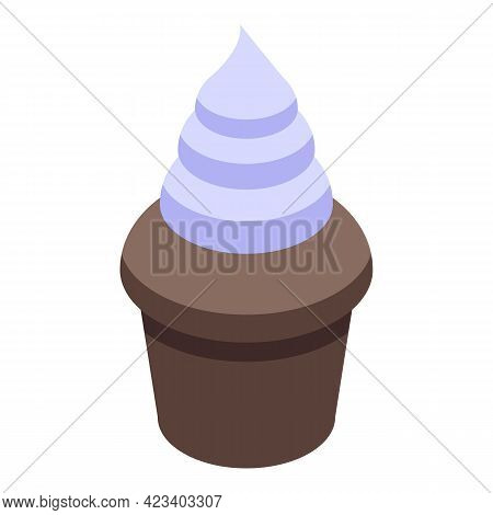 Tasty Muffin Icon. Isometric Of Tasty Muffin Vector Icon For Web Design Isolated On White Background