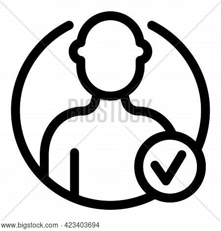 Anonymous Avatar Icon. Outline Anonymous Avatar Vector Icon For Web Design Isolated On White Backgro