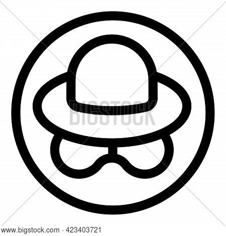 Anonymous Incognito Icon. Outline Anonymous Incognito Vector Icon For Web Design Isolated On White B