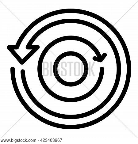 Relationship Circle Icon. Outline Relationship Circle Vector Icon For Web Design Isolated On White B