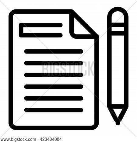 Letter Relationship Icon. Outline Letter Relationship Vector Icon For Web Design Isolated On White B