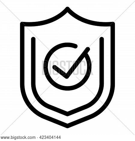 Trust Shield Relationship Icon. Outline Trust Shield Relationship Vector Icon For Web Design Isolate