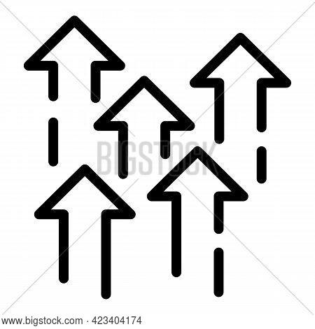 Arrows Trust Relationship Icon. Outline Arrows Trust Relationship Vector Icon For Web Design Isolate