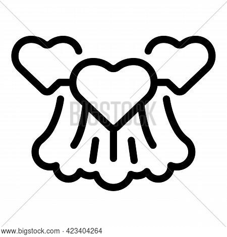 Wave Trust Relationship Icon. Outline Wave Trust Relationship Vector Icon For Web Design Isolated On