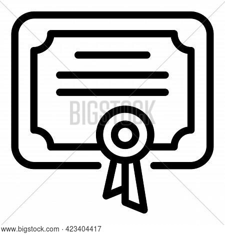 Tactical Diploma Icon. Outline Tactical Diploma Vector Icon For Web Design Isolated On White Backgro