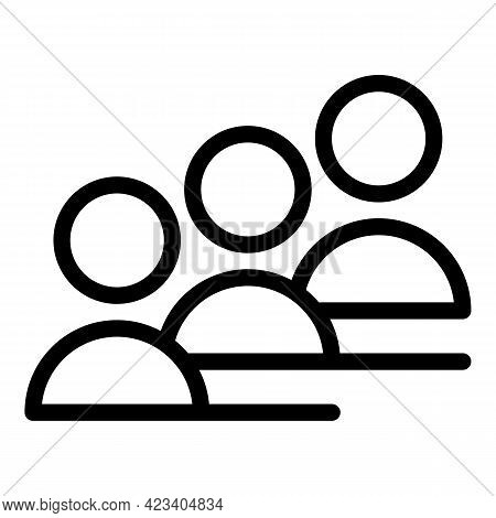 Colleague People Icon. Outline Colleague People Vector Icon For Web Design Isolated On White Backgro