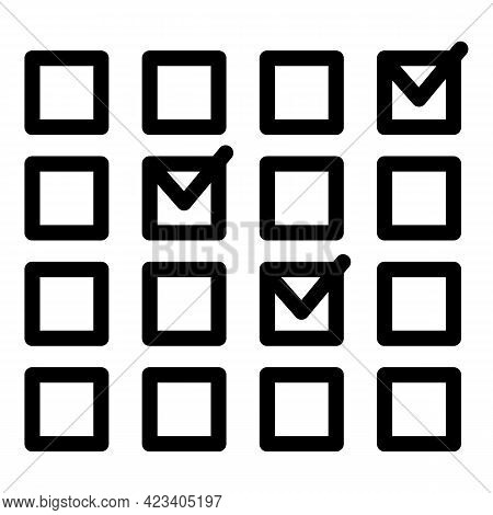 Event Planner Calendar Icon. Outline Event Planner Calendar Vector Icon For Web Design Isolated On W