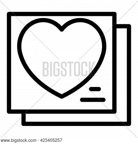 Event Planner Love Icon. Outline Event Planner Love Vector Icon For Web Design Isolated On White Bac