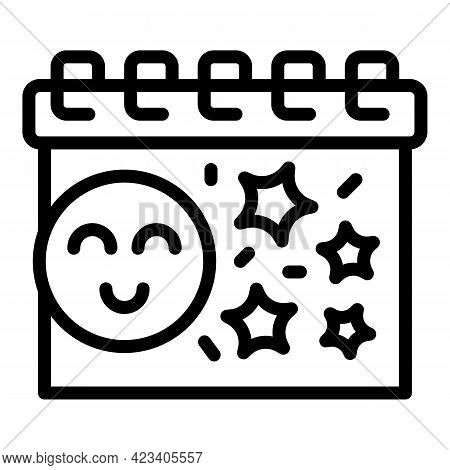 Event Planner Kid Birthday Icon. Outline Event Planner Kid Birthday Vector Icon For Web Design Isola