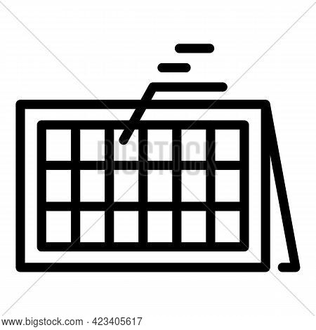 Event Planner Object Icon. Outline Event Planner Object Vector Icon For Web Design Isolated On White