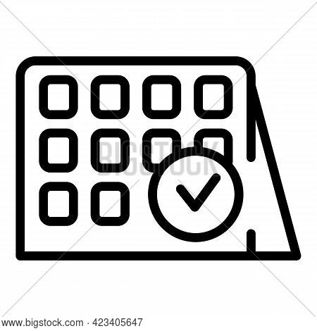 Event Planner Employee Icon. Outline Event Planner Employee Vector Icon For Web Design Isolated On W
