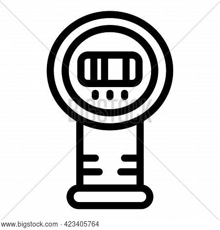 Laser Thermometer Diagnostic Icon. Outline Laser Thermometer Diagnostic Vector Icon For Web Design I