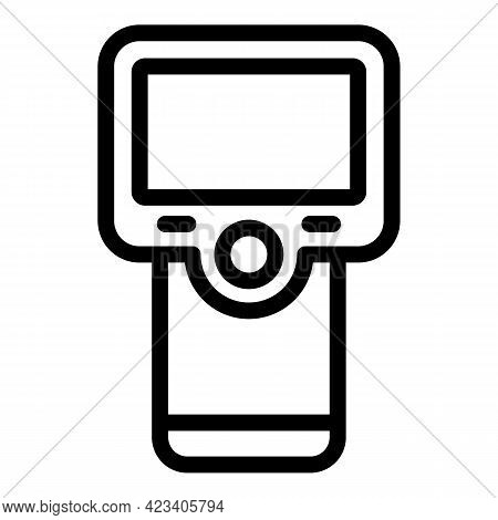 Laser Thermometer Temperature Icon. Outline Laser Thermometer Temperature Vector Icon For Web Design