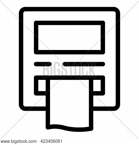 Taximeter Taxi Icon. Outline Taximeter Taxi Vector Icon For Web Design Isolated On White Background