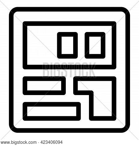 Taximeter Cab Icon. Outline Taximeter Cab Vector Icon For Web Design Isolated On White Background