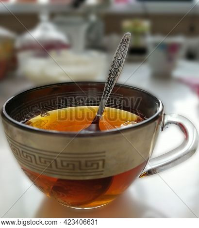 Very Sweet Black Tea, With Sugar.invigorates In The Morning.